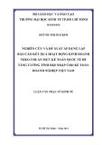 Luận văn Thạc sỹ Kinh tế: Nghiên cứu và đề xuất áp dụng lập báo cáo kết quả hoạt động kinh doanh theo chuẩn mực kế toán quốc tế để tăng cường tính hội nhập cho kế toán doanh nghiệp Việt Nam