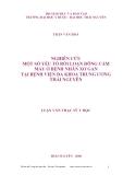 Luận văn thạc sỹ y học: Nghiên cứu một số yếu tố rối loạn đông cầm máu ở bệnh nhân xơ gan tại bệnh viện Đa khoa Trung ương Thái Nguyên