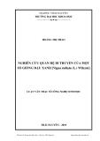 Luận văn:  NGHIÊN CỨU QUAN HỆ DI TRUYỀN CỦA MỘT SỐ GIỐNG ĐẬU XANH [Vigna radiata (L.) Wilczek]