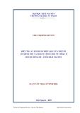 Luận văn: ĐIỀU TRA VÀ ĐÁNH GIÁ HIỆU QUẢ CỦA MỘT SỐ MÔ HÌNH PHỦ XANH ĐẤT TRỐNG ĐỒI NÚI TRỌC Ở HUYỆN ĐỒNG HỶ - TỈNH THÁI NGUYÊN