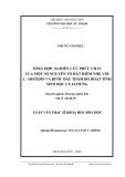 Luận văn: TỔNG HỢP, NGHIÊN CỨU PHỨC CHẤT CỦA MỘT SỐ NGUYÊN TỐ ĐẤT HIẾM NHẸ VỚI L - HISTIDIN VÀ BƯỚC ĐẦU THĂM DÒ HOẠT TÍNH SINH HỌC CỦA CHÚNG