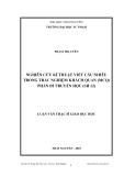 Luận văn: NGHIÊN CỨU KĨ THUẬT VIẾT CÂU NHIỄU TRONG TRẮC NGHIỆM KHÁCH QUAN (MCQ) PHẦN DI TRUYỀN HỌC (SH 12)