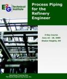 Engineering and Design of Liquid Process Piping Systems