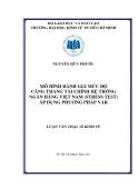 Đề tài: Mô hình đánh giá mức độ căng thẳng tài chính hệ thống ngân hàng Việt Nam ứng dụng VAR