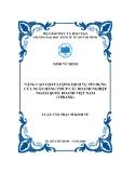 Đề tài: Nâng cao chất lượng dịch vụ tín dụng của Ngân hàng TMCP các doanh nghiệp ngoài quốc doanh Việt Nam (VPBank)