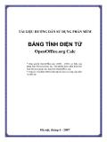 TÀI LIỆU HƯỚNG DẪN SỬ DỤNG PHẦN MỀM BẢNG TÍNH ĐIỆN TỬ OpenOffice.org Calc