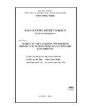 Báo cáo: Nghiên cứu chế tạo khuôn uốn định hình trên máy CNC sử dụng trong sản xuất bàn ghế bằng ống thép