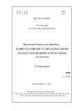 Báo cáo: Nghiên cứu thiết kế và chế tạo dây chuyền sản xuất tấm lợp không sử dungh Amiăng