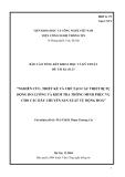 """Báo cáo: """"NGHIÊN CỨU, THIẾT KẾ VÀ CHẾ TẠO CÁC THIẾT BỊ TỰ ĐỘNG ĐO LƯỜNG VÀ KIỂM TRA THÔNG MINH PHỤC VỤ CHO CÁC DÂY CHUYỀN SẢN XUẤT TỰ ĐỘNG HOÁ"""""""