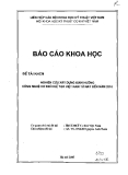 Báo cáo: Nghiên cứu xây dựng đinh hướng công nghệ cơ khí  chế tạo Việt Nam từ nay đến năm 2010