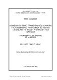 Luận văn thạc sỹ y học:  Nghiên cứu thực trạng ô nhiễm vi khuẩn thức ăn đường phố và một số yếu tố liên quan tại thành phố Thanh Hóa năm 2007