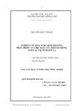 Luận văn: NGHIÊN CỨU KHẢ NĂNG SINH TRƯỞNG, PHÁT TRIỂN VÀ CHỊU HẠN CỦA MỘT SỐ GIỐNG NGÔ LAI TẠI TỈNH SƠN LA