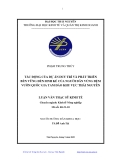 Luận văn:  TÁC ĐỘNG CỦA DỰ ÁN DUY TRÌ VÀ PHÁT TRIỂN BỀN VỮNG ĐẾN SINH KẾ CỦA NGƢỜI DÂN VÙNG ĐỆM VƯỜN QUỐC GIA TAM ĐẢO KHU VỰC THÁI NGUYÊN