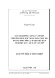 Luận văn: XÁC ĐỊNH LƯỢNG GIỐNG VÀ TỔ HỢP PHÂN BÓN THÍCH HỢP TRONG THÂM CANH LÚA HƯƠNG THƠM SỐ 1 TỈNH ĐIỆN BIÊN - VỤ XUÂN NĂM 2007