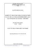 Luận văn: NGHIÊN CỨU MỘT SỐ ĐẶC ĐIỂM TÁI SINH TỰ NHIÊN CỦA CÂY DẺ GAI ẤN ĐỘ (CASTANOPSIS INDICA A.D.C) TẠI VƯỜN QUỐC GIA TAM ĐẢO - VĨNH PHÚC
