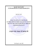 Đề tài: NÂNG CAO NĂNG LỰC CẠNH TRANH SẢN PHẨM CHÈ XUẤT KHẨU CỦA CÔNG TY CỔ PHẦN CHÈ QUÂN CHU, THÁI NGUYÊN TRƯ ỚC THỀM HỘI NHẬP KINH TẾ QUỐC TẾ