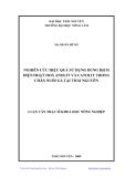 Luận văn: NGHIÊN CỨU HIỆU QUẢ SỬ DỤNG DUNG DỊCH ĐIỆN HOẠT HOÁ ANOLIT VÀ CATOLIT TRONG CHĂN NUÔI GÀ TẠI THÁI NGUYÊN