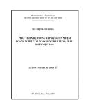 Luận văn Thạc sĩ Kinh tế: Phát triển hệ thống xếp hạng tín nhiệm doanh nghiệp tại Ngân hàng Đầu tư và Phát triển Việt Nam