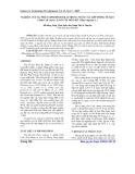 Báo cáo khoa học: Nghiên cứu sự phát sinh hình thái trong nuôi cấy lớp mỏng tế bào (thin cell layer) lá ở cây hồ tiêu