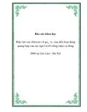Báo cáo khoa học: Hiệu lực của chitosan vỡ ga3, A - naa đến hoạt động quang hợp của cây ngô lvn10 trồng chậu vụ đông 2006 tại Gia Lâm - Hà Nội