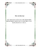 Báo cáo khoa học : XÁC ĐỊNH MỨC Bổ SUNG URÊ THíCH HỢP TRONG KHẨU PHẦN ĂN CỦA BÒ THịT Có SỬ DỤNG BÃ DỨA Ủ CHUA