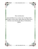 Báo cáo khoa học: ẢNH HƯỞNG CỦA CANH TÁC NƯƠNG RẪY ĐẾN KHẢ NĂNG PHỤC HỒI DINH DƯỠNG ĐẤT TRONG GIAI ĐOẠN BỎ HÓA Ở TỈNH HÒA BÌNH