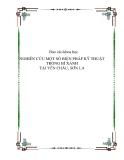 Báo cáo khoa học : NGHIÊN CỨU MỘT SỐ BIỆN PHÁP KỸ THUẬT TRỒNG BÍ XANH TẠI YÊN CHÂU, SƠN LA