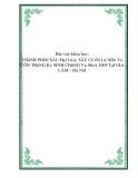 Báo cáo khoa học: THầNH PHầN SÂU HạI LúA, SÂU CUốN Lá NHỏ Và CÔN TRùNG Ký SINH CHúNG Vụ MùA 2005 TạI GIA LÂM – Hà NộI
