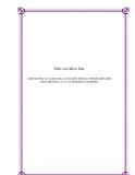 Báo cáo khoa học: ẢNH HƯỞNG CỦA KHOẢNG CÁCH GIEO TRồNG Vỡ PHÂN BÓN ĐẾN SINH TRƯƠNG CUA CÂY MORINGA OLEIFERA