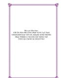 Báo cáo khoa học: CHUẩN HOá PHƯƠNG PHáP SàNG LọC Định TíNH KIểM SOáT TồN DƯ KHáNG SINH TRONG THựC PHẩM Có NGUồN GốC ĐộNG VậT THEO QUI ĐịNH Số 2002/657/EC
