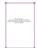 Báo cáo khoa học: Một số kết quả bước đầu nghiên cứuthiết kế, chế tạo máy đóng bầu mía giốngvụ hè - thu 2003 tại Gia Lâm – Hà Nội
