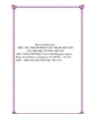 Báo cáo khoa học: ĐIềU TRA THàNH PHầN CÔN TRùNG BắT MồI SÂU HạI ĐậU TƯƠNG, MộT Số ĐặC TíNH SINH HọC CủA LOàI Harpalus sinicus Hope (Carabidae; Coleoptera) Vụ ĐÔNG - XUÂN 2005 - 2006 TạI CHƯƠNG Mỹ - Hà TÂY