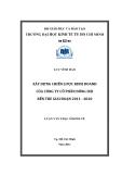 Luận văn thạc sĩ kinh tế : Xây dựng chiến lược kinh doanh của công ty cổ phần đông hải bến tre giai đoạn 2011 - 2012