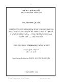"""Luận văn: """"NGHIÊN CỨU ĐẶC ĐIỂM NGOẠI HÌNH VÀ KHẢ NĂNG SẢN XUẤT THỊT CỦA GÀ F1 (TRỐNG MÔNG X MÁI AI CẬP) VÀ F1(TRỐNG MÔNG X MÁI LƯƠNG PHƯỢNG) NUÔI BÁN CHĂN THẢ TẠI THÁI NGUYÊN"""""""