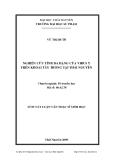 Luận văn: NGHIÊN CỨU TÍNH ĐA DẠNG CỦA VIRUS Y TRÊN KHOAI TÂY TRỒNG TẠI THÁI NGUYÊN