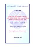 Luận văn: NÂNG CAO HIỆU QUẢ SỬ DỤNG ĐẤT NÔNG NGHIỆP TRONG QUÁ TRÌNH ĐÔ THỊ HÓA HUYỆN PHỔ YÊN