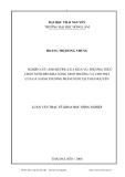 Luận văn: NGHIÊN CỨU ẢNH HƢỞNG CỦA MÙA VỤ, PHƢƠNG THỨC CHĂN NUÔI ĐẾN KHẢ NĂNG SINH TRƢỞNG VÀ CHO THỊT CỦA GÀ SASSO THƢƠNG PHẨM NUÔI TẠI THÁI NGUYÊN