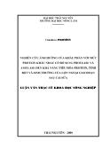 Luận văn: NGHIÊN CỨU ẢNH HƯỞNG CỦA KHẨU PHẦN VỚI MỨC PROTEIN KHÁC NHAU CÓ BỔ SUNG PROTEASE VÀ AMYLASE ĐẾN KHẢ NĂNG TIÊU HÓA PROTEIN, TINH BỘT VÀ SINH TRƯỞNG CỦA LỢN NGOẠI GIAI ĐOẠN SAU CAI SỮA