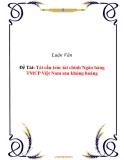 Luận văn tốt nghiệp: Tái cấu trúc tài chính Ngân hàng TMCP Việt Nam sau khủng hoảng