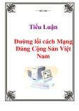 Tiểu Luận:  Đường lối cách Mạng Đảng Cộng Sản Việt Nam