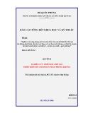 Báo cáo: Nghiên cứu thiết kế, chế tạo Thiết bị đo độ chụm đạn pháo phòng không