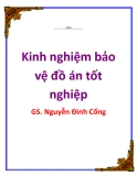 Kinh nghiệm bảo vệ đồ án tốt nghiệp_ GS. Nguyễn Đình Cống
