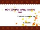 Một số hàm mang  trong PHP