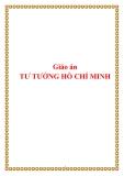 GIÁO ÁN: TƯ TƯỞNG HỒ CHÍ MINH