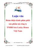 Luận văn: Hoàn thiện kênh phân phối sản phẩm tại công ty TNHH Sơn Lucky House Việt Nam