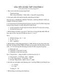 Câu hỏi và bài tập chương 3 mạng tế bào