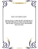 Báo cáo khoa học: TỈ LỆ VÀ MỘT SỐ YẾU TỐ LIÊN QUAN ĐẾN HEN PHẾ QUẢN Ở HỌC SINH TIỂU HỌC, TRUNG HỌC CƠ SỞ GIA SÀNG THÀNH PHỐ THÁI NGUYÊN
