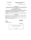 Quyết định số 3055/QĐ-BCT