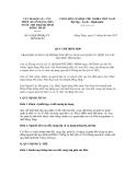 QUY CHẾ PHỐI HỢP SỐ 619/QCPH/HQ-CTNHNN.ĐTH