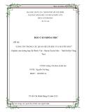 Báo cáo khoa học: LÒNG TIN TRONG CÁC QUAN HỆ XÃ HỘI CỦA NGƯỜI DÂN (Nghiên cứu trường hợp Xã Phước Tân - Huyện Xuyên Mộc – Tỉnh Bà Rịa Vũng Tàu)